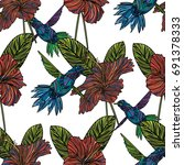 seamless pattern with... | Shutterstock . vector #691378333