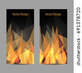 a set of modern vector banners... | Shutterstock .eps vector #691378720
