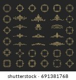 a huge rosette wicker border... | Shutterstock .eps vector #691381768