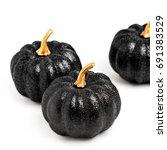 Three Black Shiny Decorative...