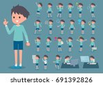 a set of boy with who express... | Shutterstock .eps vector #691392826