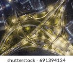road traffic in city at... | Shutterstock . vector #691394134