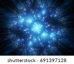 blue glowing futuristic... | Shutterstock . vector #691397128