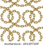 vector seamless pattern of... | Shutterstock .eps vector #691397209