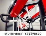 modern interior of gym  close... | Shutterstock . vector #691398610