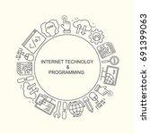 internet technology and... | Shutterstock .eps vector #691399063