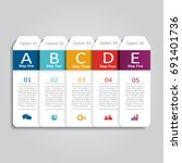 infographic template. can be... | Shutterstock .eps vector #691401736