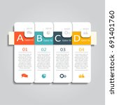 infographic template. can be... | Shutterstock .eps vector #691401760
