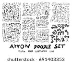 vector hand drawn arrows set... | Shutterstock .eps vector #691403353