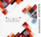abstract vector blocks template ... | Shutterstock .eps vector #691407376