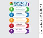 infographic design   stock... | Shutterstock .eps vector #691410814