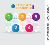 infographic design   stock... | Shutterstock .eps vector #691410874