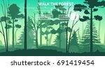 illustration of sunny morning... | Shutterstock .eps vector #691419454