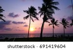 sri lanka sunset | Shutterstock . vector #691419604