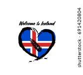 iceland logo vector | Shutterstock .eps vector #691420804
