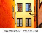 Yellow And Orange Old Houses I...