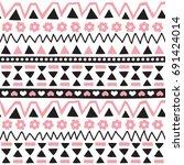 seamless aztec pattern vector...   Shutterstock .eps vector #691424014