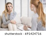mental health and counseling... | Shutterstock . vector #691424716