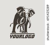 elephant sign logo emblem... | Shutterstock .eps vector #691425289