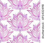 seamless pattern consisting of... | Shutterstock .eps vector #691432498