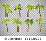 palm trees isolated on... | Shutterstock .eps vector #691435378