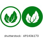 eco natural sign with green... | Shutterstock .eps vector #691436173