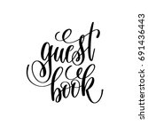Guest Book Hand Lettering Quote ...