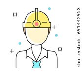 construction  engineer or... | Shutterstock .eps vector #691442953