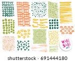 vector hand drawn textures.... | Shutterstock .eps vector #691444180