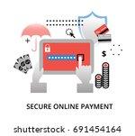 modern flat design vector... | Shutterstock .eps vector #691454164