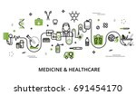 modern flat thin line design... | Shutterstock .eps vector #691454170