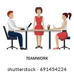 modern flat design vector... | Shutterstock .eps vector #691454224