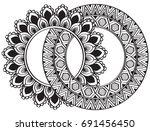 ethnic mandala ornament.... | Shutterstock .eps vector #691456450