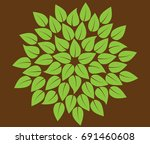 abstract leaves circle  ... | Shutterstock .eps vector #691460608