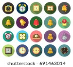 alarm icons | Shutterstock .eps vector #691463014