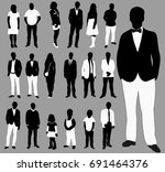 vector isolated people set  a... | Shutterstock .eps vector #691464376
