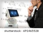 legal and mathematics calculate ... | Shutterstock . vector #691465528