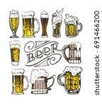 october fest. vector  beer... | Shutterstock .eps vector #691466200