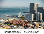 aerial view of san francisco... | Shutterstock . vector #691466524