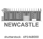 football stadium. newcastle.... | Shutterstock .eps vector #691468000