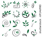 set of leafy elements for... | Shutterstock .eps vector #69146980