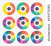 vector circle for infographic... | Shutterstock .eps vector #691473283