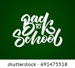 back to school hand drawn... | Shutterstock .eps vector #691475518