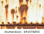 rust on old wall background ... | Shutterstock . vector #691476853