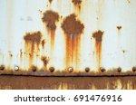metal rust background rust on... | Shutterstock . vector #691476916
