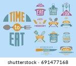 cooking badge motivation text... | Shutterstock .eps vector #691477168