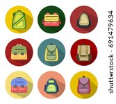 backpack icons | Shutterstock .eps vector #691479634