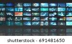 multimedia technology concept... | Shutterstock . vector #691481650