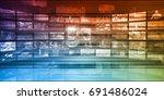 digital technology background... | Shutterstock . vector #691486024