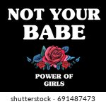 flowers with message slogan...   Shutterstock .eps vector #691487473